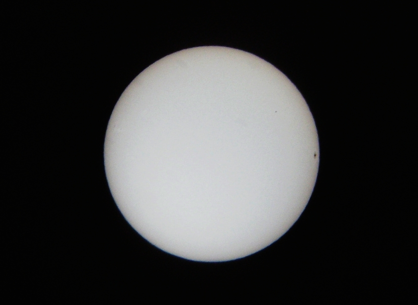 Transit of Mercury Photo -- 11/08/2006 at 1508 EST
