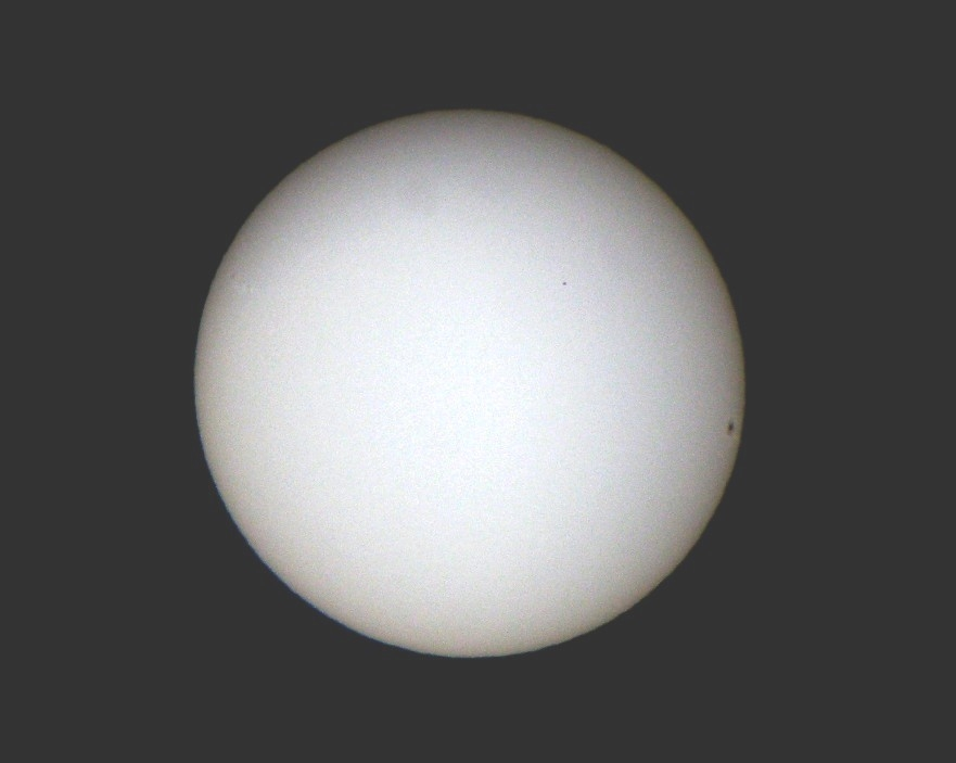 Transit of Mercury Photo -- 11/08/2006 at 1559-4 EST