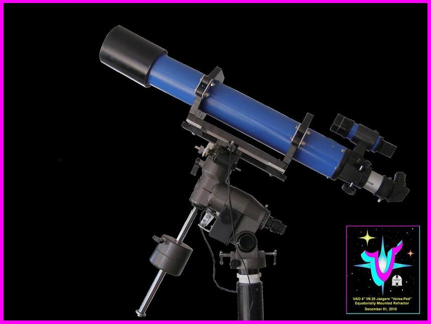 "Click to see an enlarged MS Paint rendering of the VSC/ VAO/ Jaegers 4"" inch f/8.25 Refractor!"