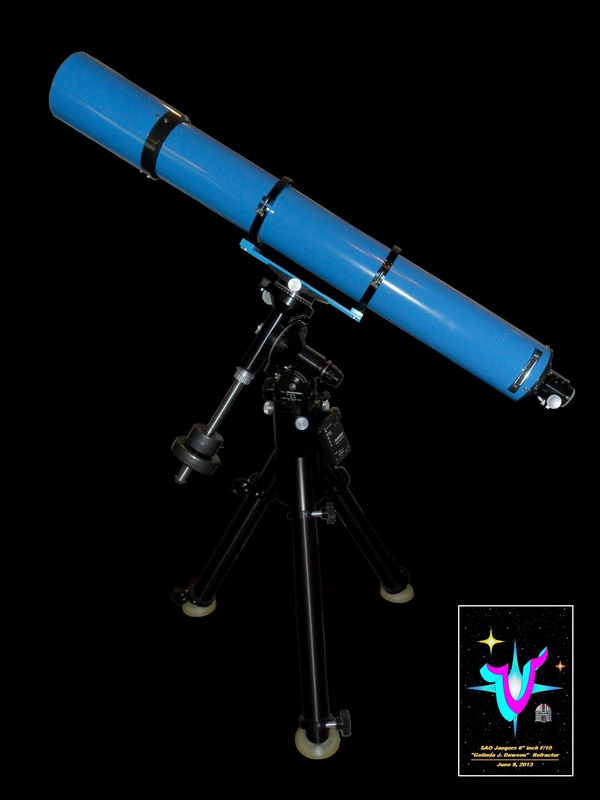"Construction Overview of the VSC/ SAO Jaegers 6"" inch f/10  ""Gelinda J. Dawson"" Refractor. Click to visit this section."