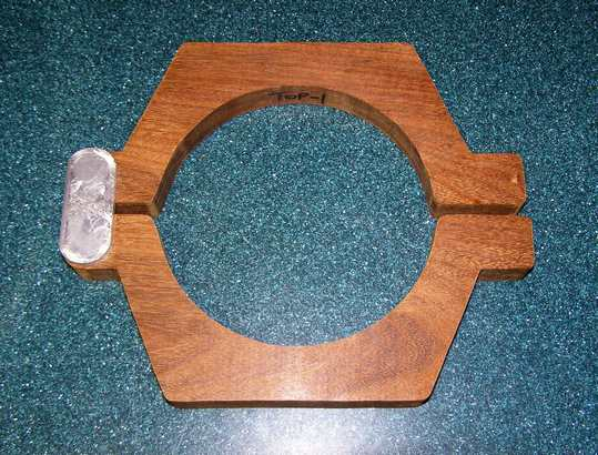 Cradle Rings made from Solid Teakwood with Aluminum Hinge Plates.