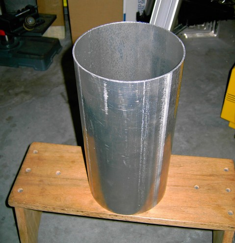 "6""d x 12""l x .083""w Aluminum Tube (Dew-Shield) purchased from Hastings Irrigation Pipe Company."