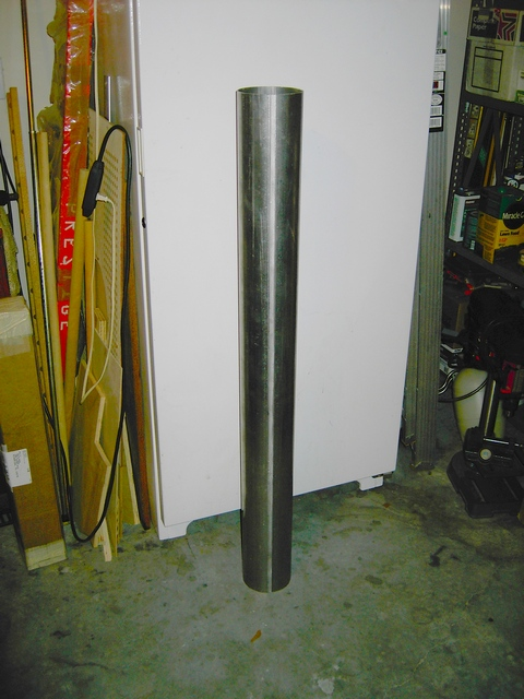 "5""d x 48""l x .073""w Aluminum Tube (Main) purchased from Hastings Irrigation Pipe Company."